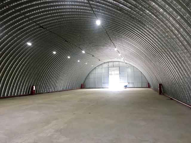 изготовление бетонных полов для бескаркасных ангаров